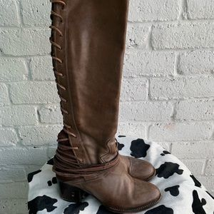 Freebird Coal Lace Up Tall Boots